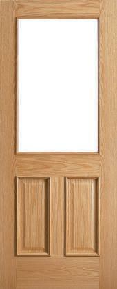 traditional 1 light door - oak