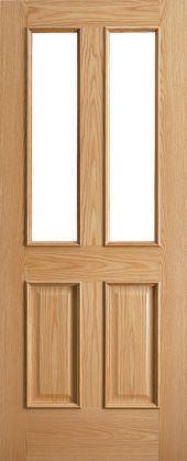 traditional 2 light door - oak