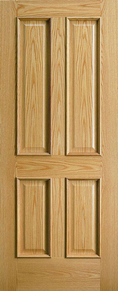 traditional 4 panel door - oak