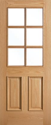 traditional 6 light door - oak