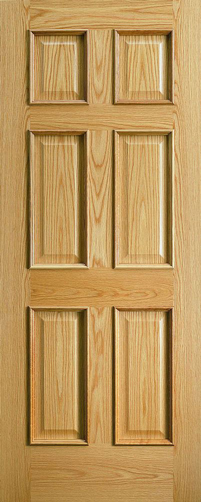 traditional 6 panel door - oak