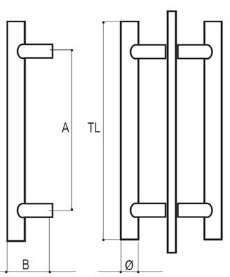 EKR02 pull handle detail