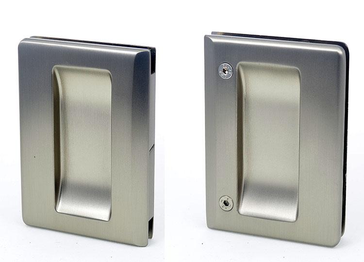 EM506 flush handle for glass pocket door