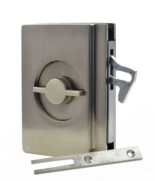 EM404 pocket door bathroom lock handle image 4