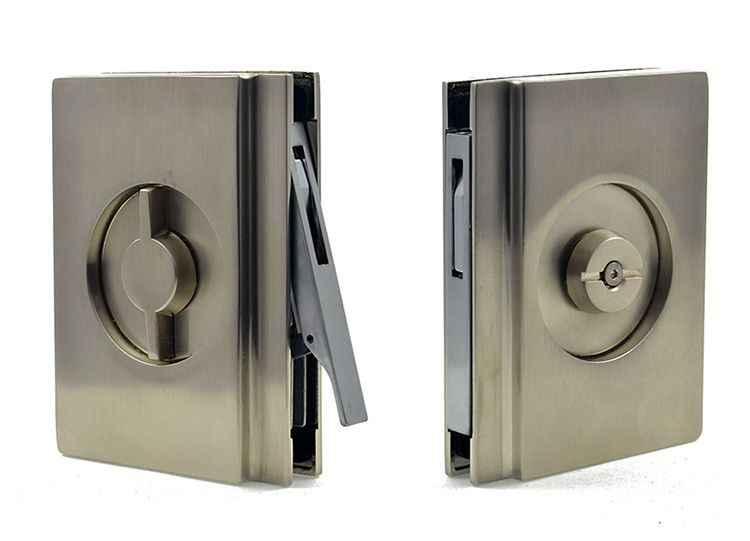 EM404 privacy lock handle for glass pocket door