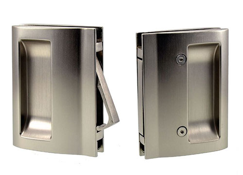 EM406 handle with end pull for glass pocket door