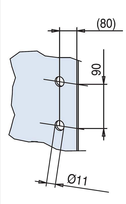 glass drilling detail for EM511 flush handles