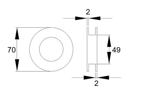 Project closed centre flush handles for glass doors drawing