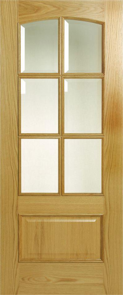 Alisa interior 6 light glazed door oak
