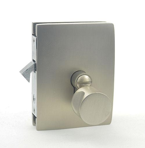 bathroom lock for sliding glass door - outside view