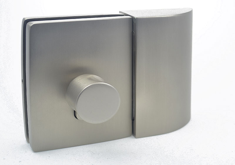 bathroom lock with strike box for sliding glass doors