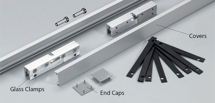 glass clamps, covers and end caps