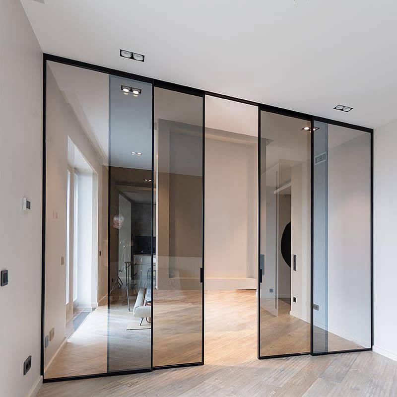 Grafic Solo style sliding doors with panels img 14