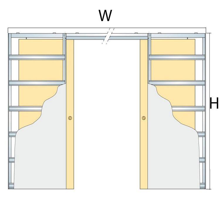 width and height for metal pocket door systems double doors