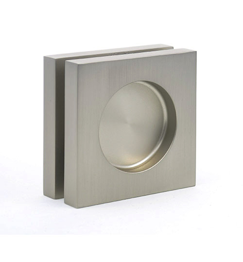 EM-522 square design flush handles for glass pocket doors