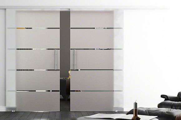 Forme sliding glass double doors