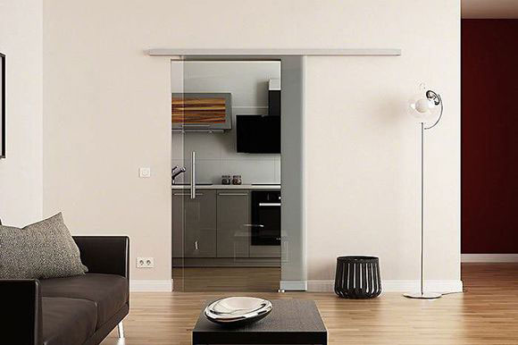 Forme single sliding glass door