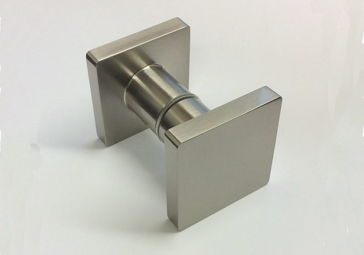 Cubo pull knobs for glass doors