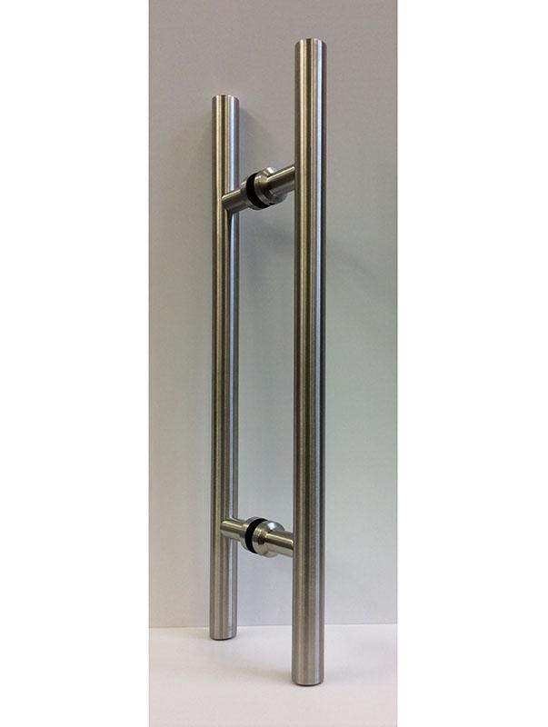 EK4 satin stainless steel pull bars for glass