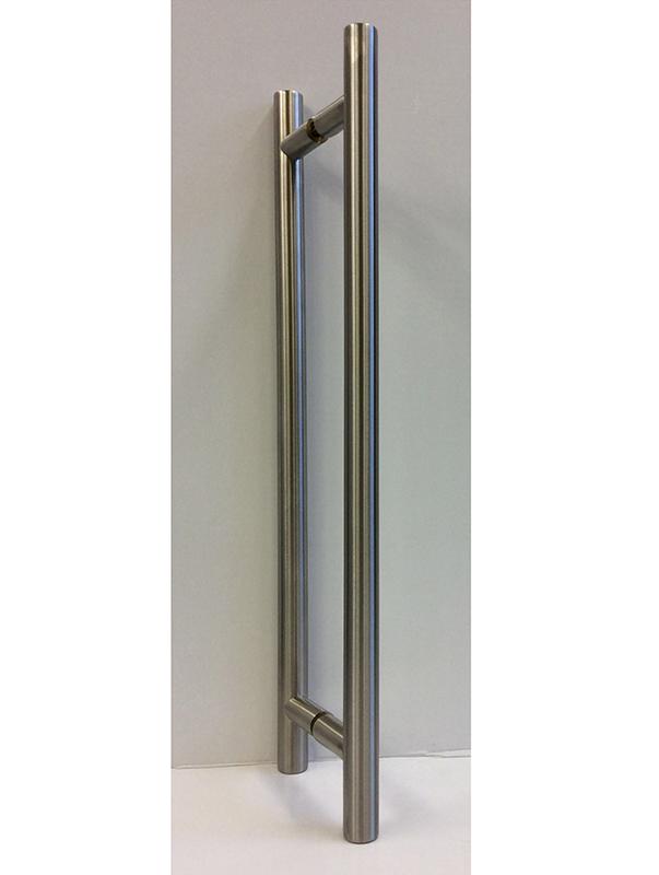 EKR02 satin stainless steel pull bars for glass