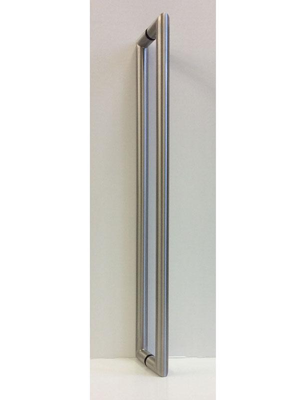 EKR10 satin stainless steel pull bars for glass