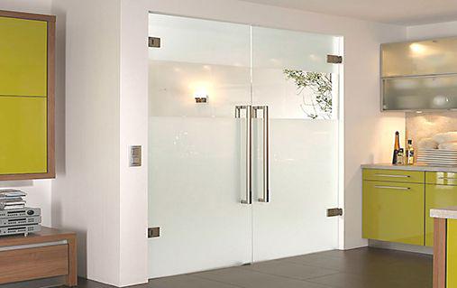frameless glass doors header