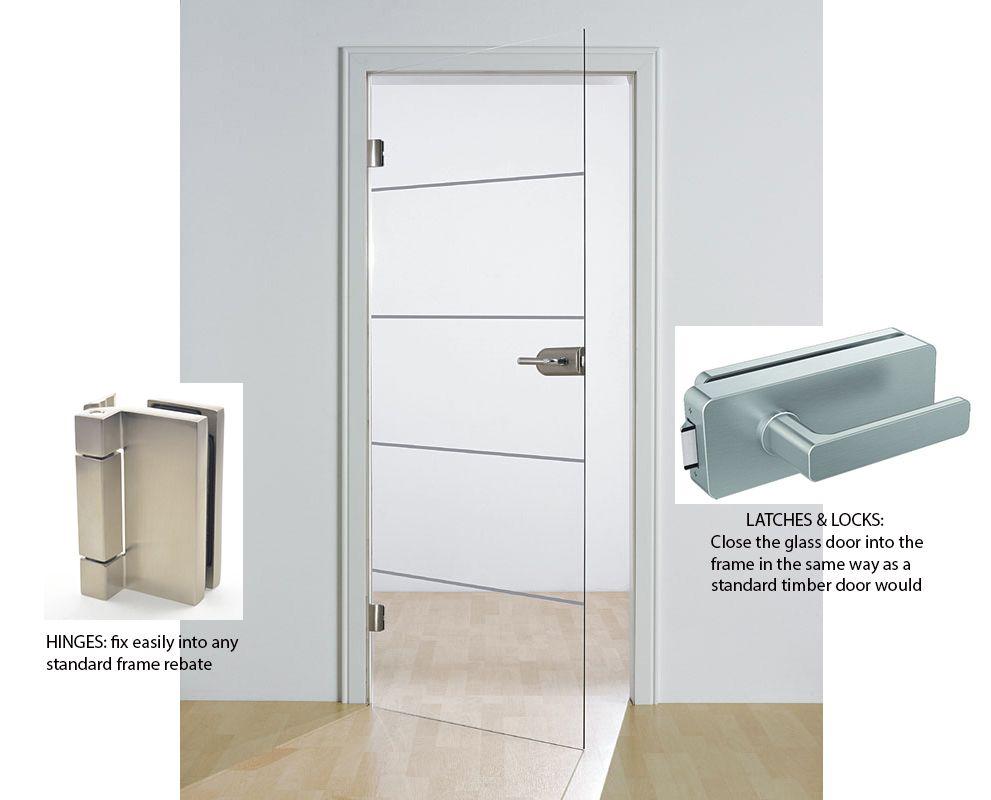 full glass door fits into standard doorway