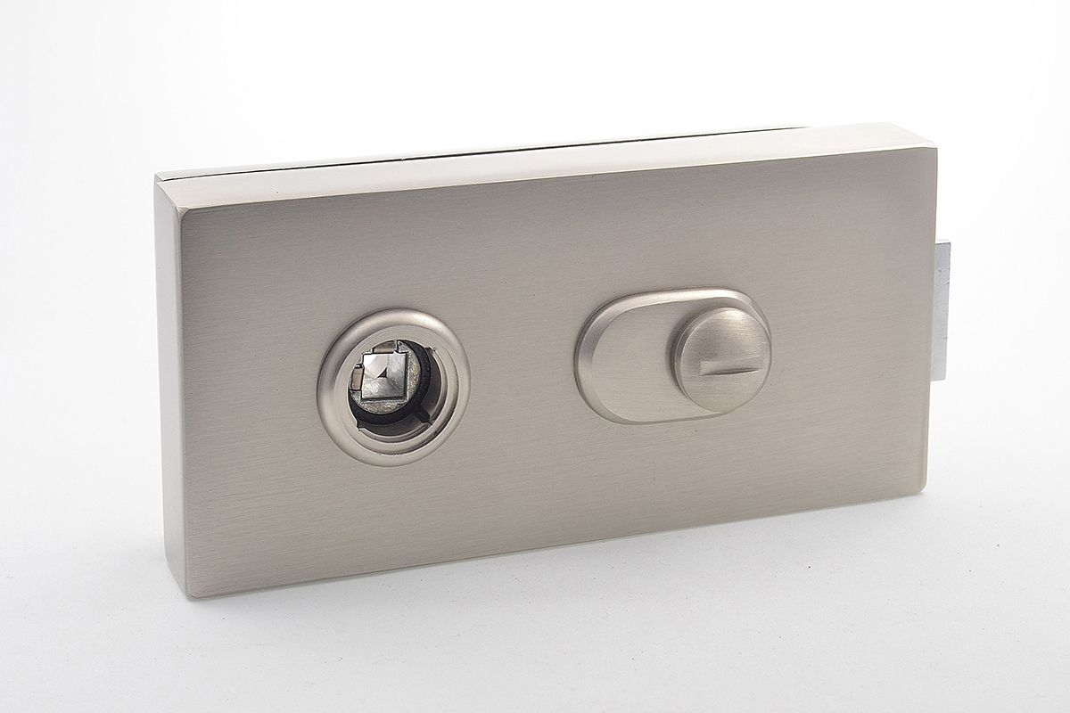 Cubo bathroom lock for glass doors