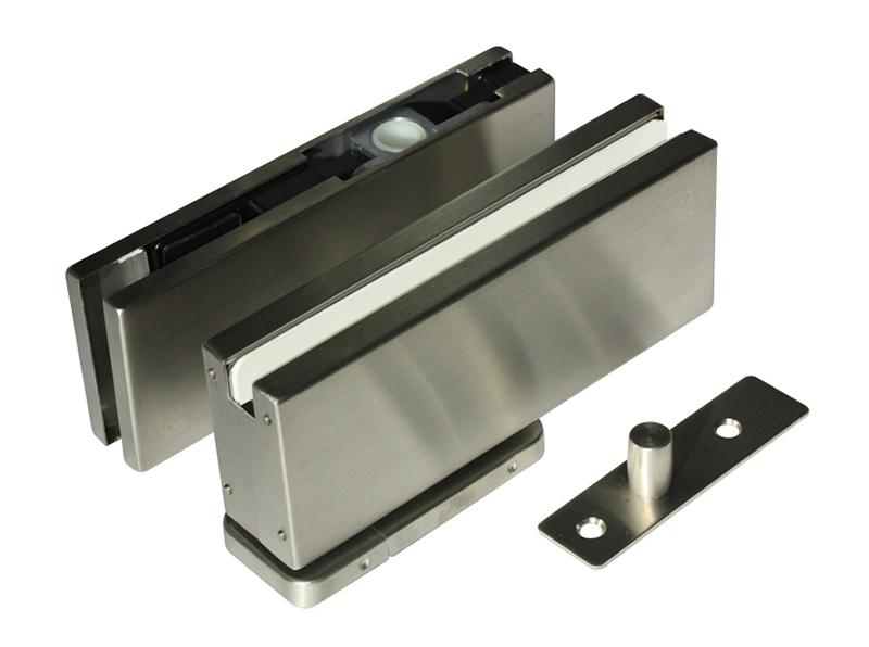 Project Pivot hinge set for frameless glass door