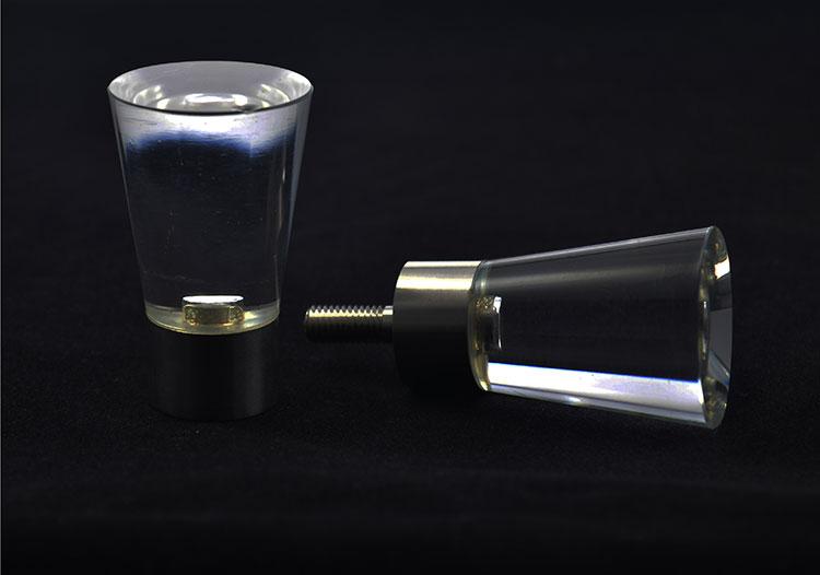 Glass door knobs - tulip design clear glass