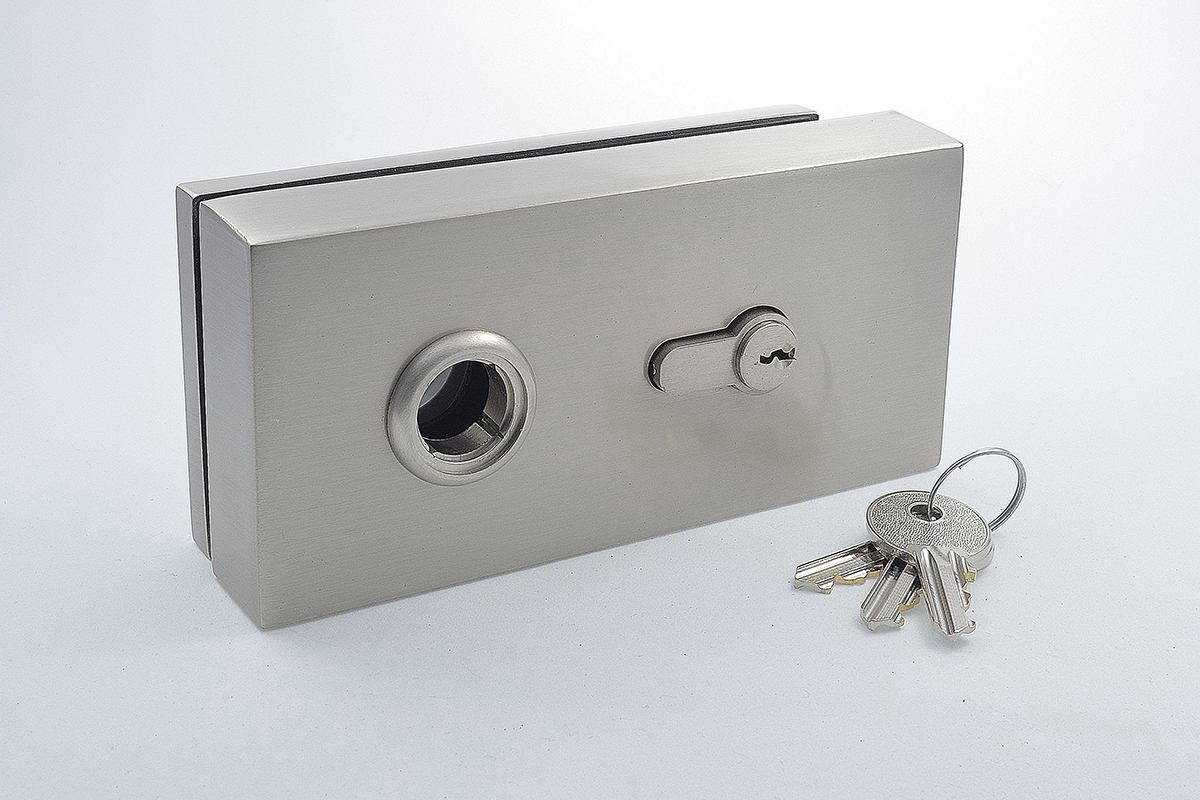 Cubo key lock for glass doors