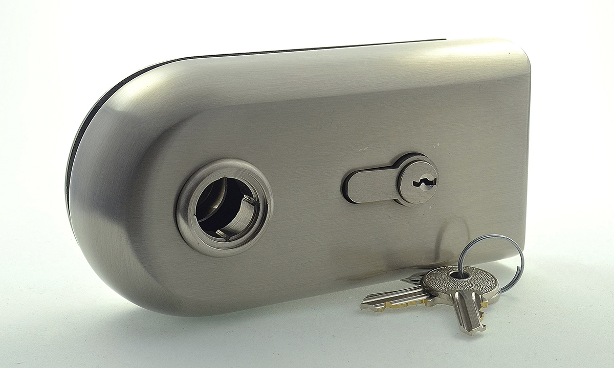 Tosca key lock for glass doors