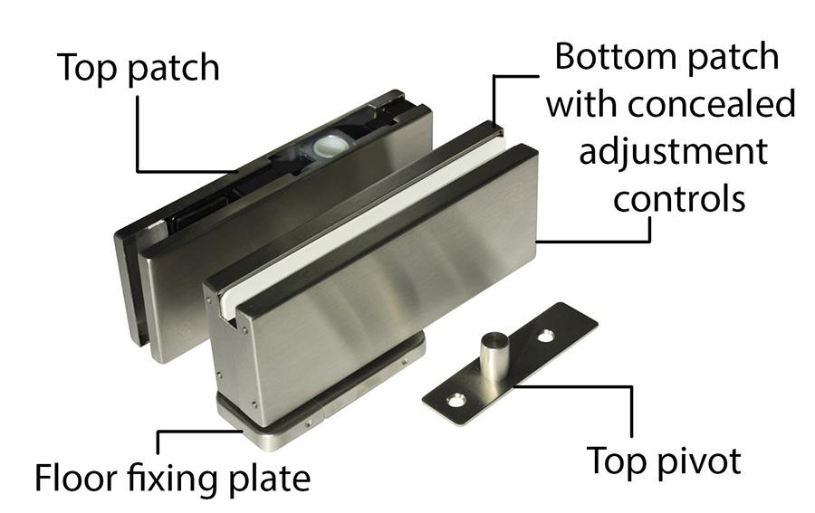 pivot hinge for frameless glass door