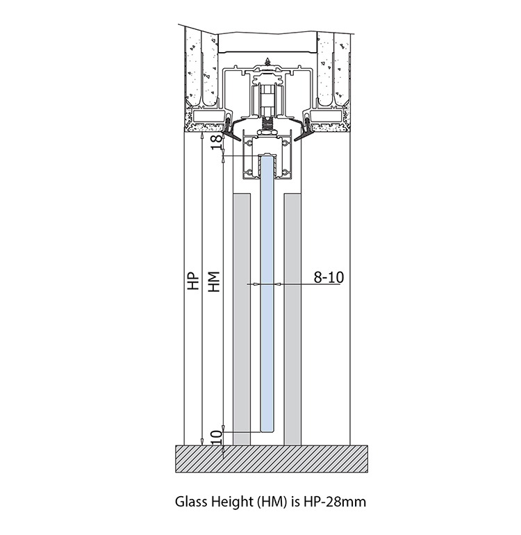 glass height and passage height for glass doors