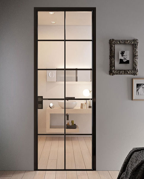 crittall style doors with frames and architraves