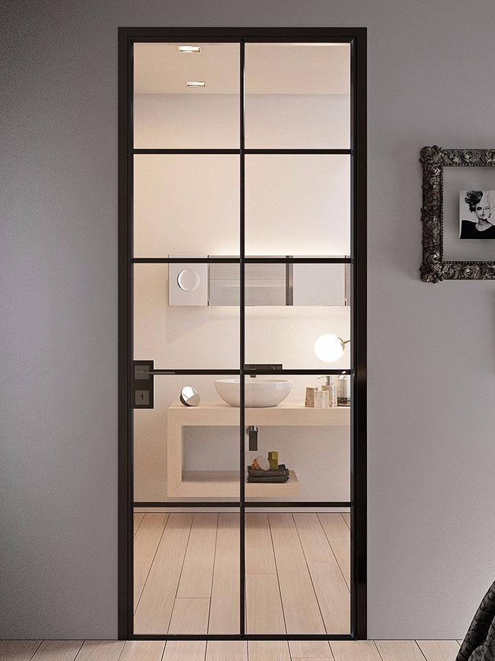 Grafic Crittall style glass doors