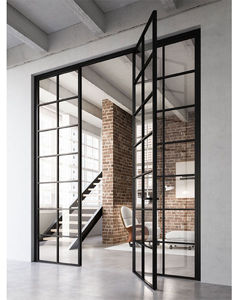 crittal style doors with slimline frames