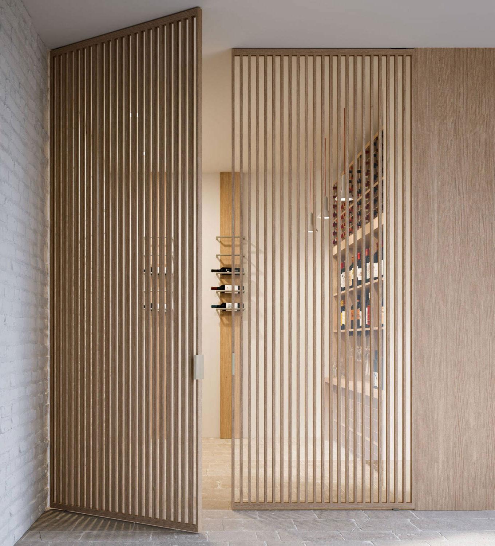 Grafic pivot doors with vertical bars img 10