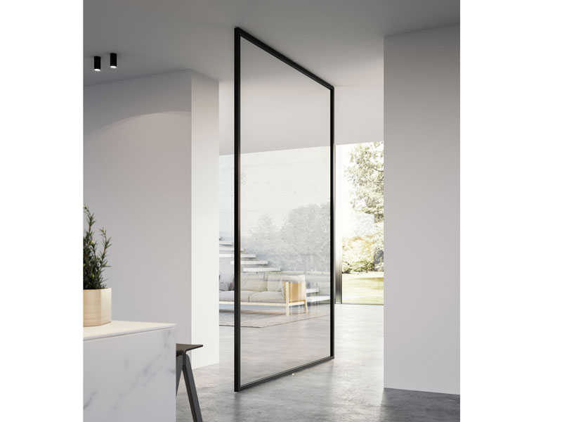door with central pivot axis