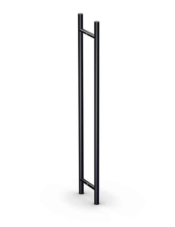 Matte black pull bar handles for glass doors