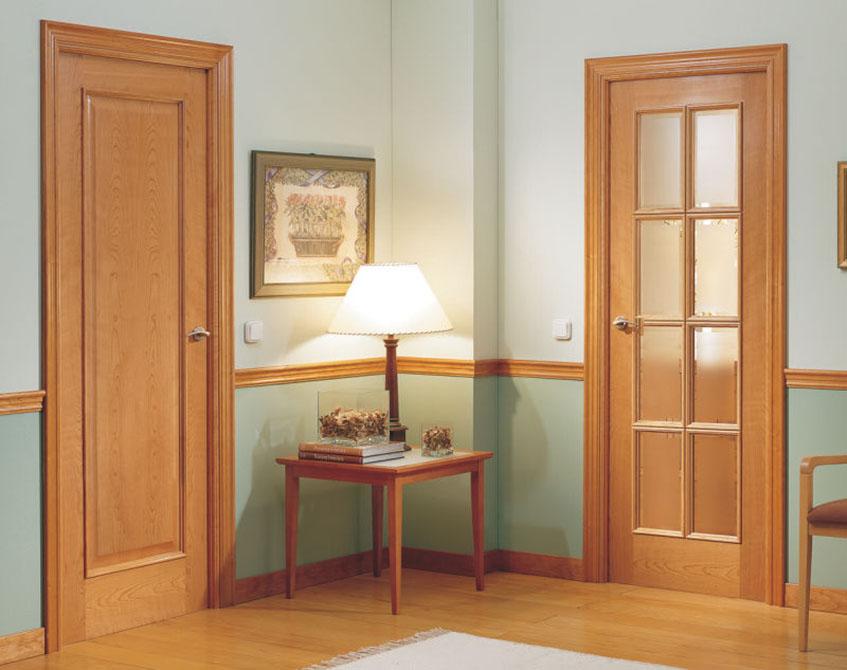 Isla and Isal eight light interior doors - oak