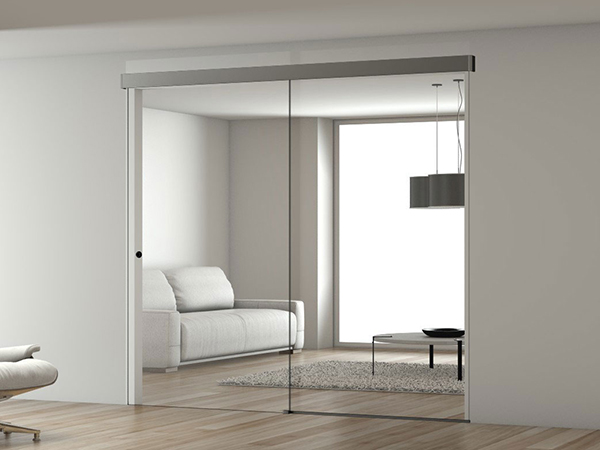 Matrix sliding tracks for glass doors