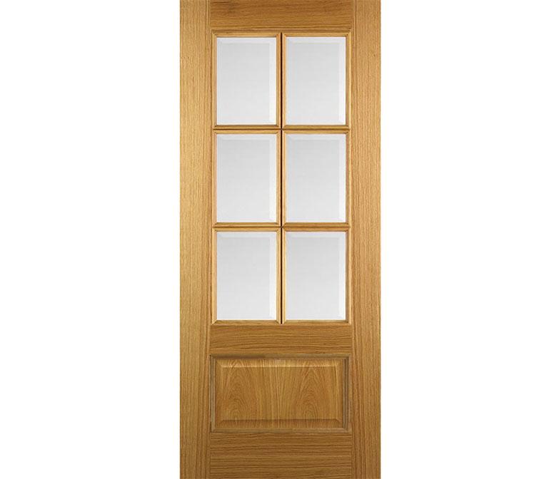 melia interior 6 light glazed door in oak
