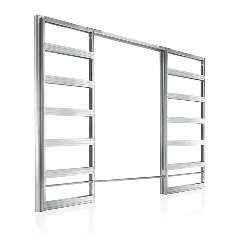 metal pocket for double doors