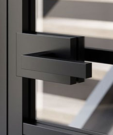 magnetic latch with lever handles
