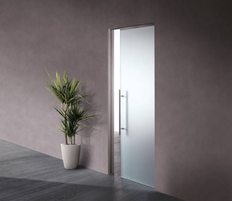 glass pocket door with privacy glass