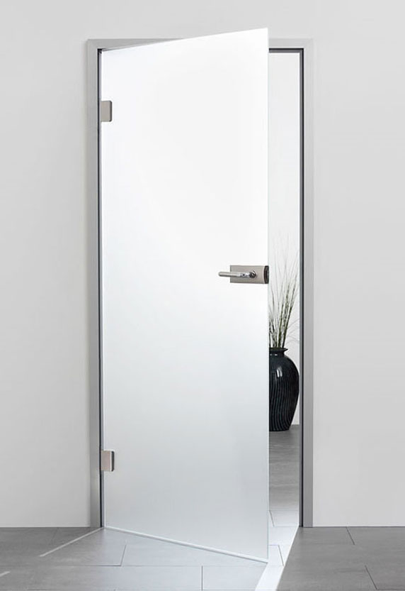 satin glass door - standard or low iron