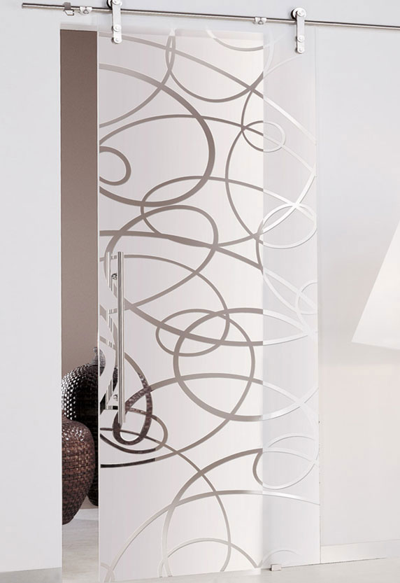 sandblasted designs glass door - standard or low iron