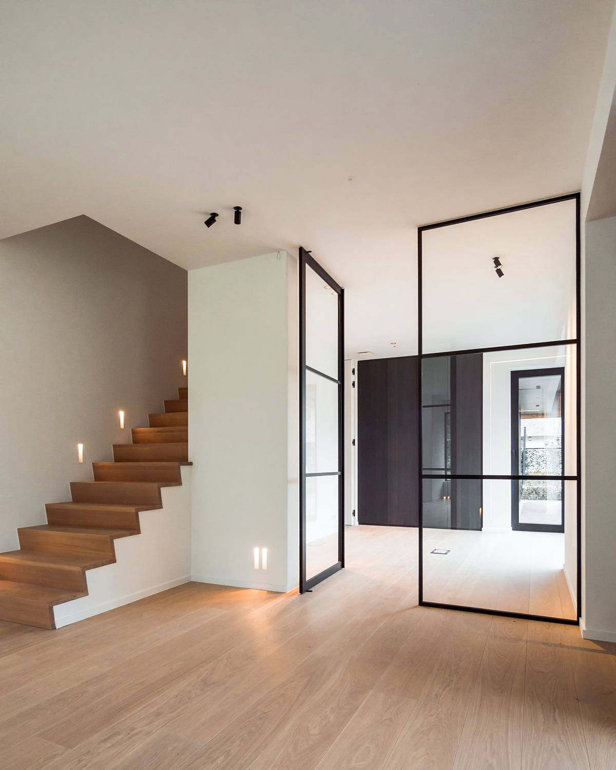 Piazza Crittall style Tecno pivot door with panel img 18
