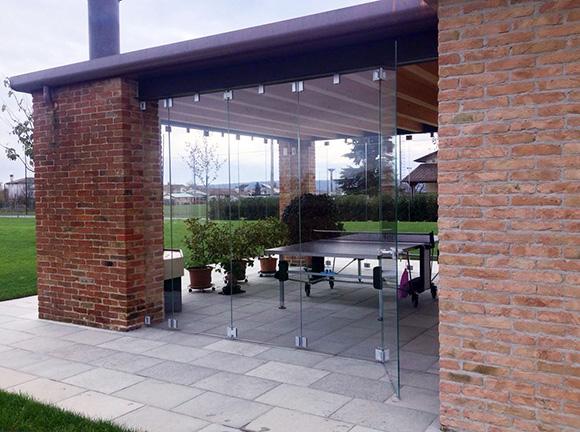 folding glass door partition vistafold system 2
